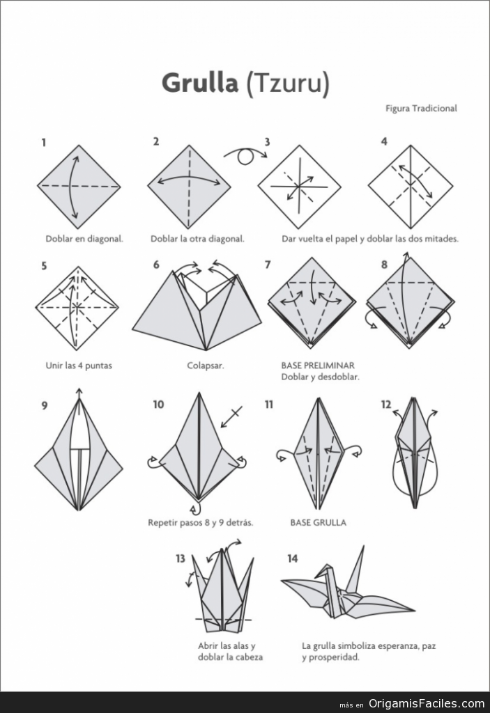Origami Grulla - Tzuru