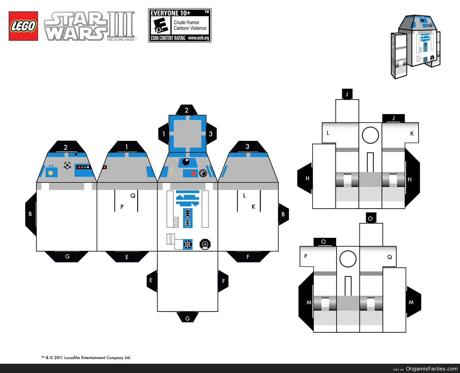 Origamis Y Papercraft R2d2 Papercraft