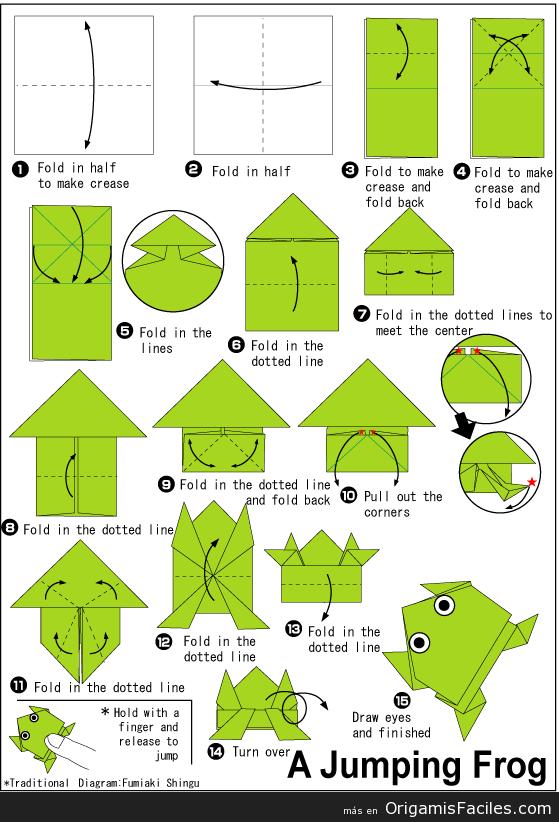Como Hacer Una Rana De Origami - newhairstylesformen2014.com