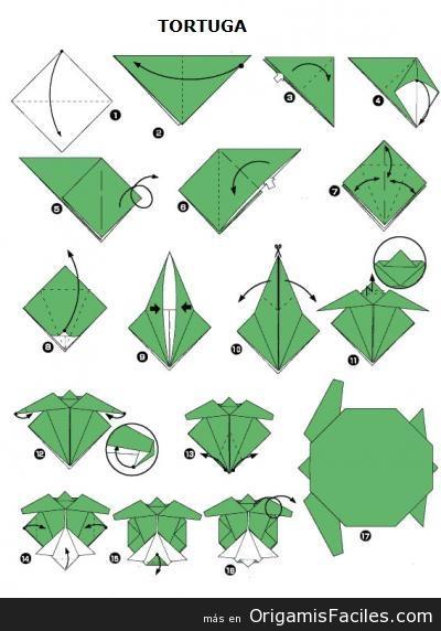 tortuga origami papercraft
